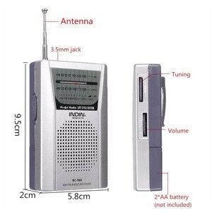 Image 3 - BC R60 Tragbare Tasche Radio Teleskop Antenne Mini AM/FM 2 Band Radio Welt Empfänger mit Lautsprecher
