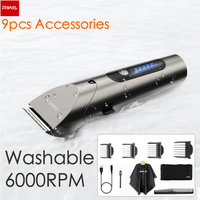 Xiaomi Riwa Barber Hair Clipper LED Screen Washable Electric Hair Trimmer Ricaricabile professionale Hair Machine Trimmer for Men