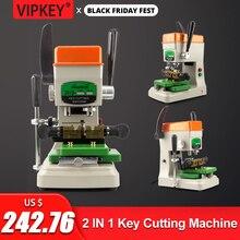 Goso 998a máquina de corte de chave vertical, universal portátil, plana, conjunto de serralheiro, ferramentas duplicadas
