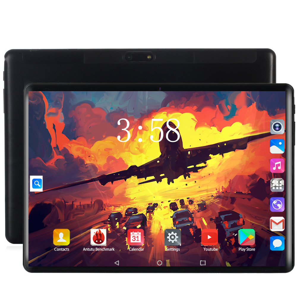 2020 Tablet Stand 10 Inch Tablet Pc Octa 8 Core 128GB Tablets Android 8.0 WiFi Bluetooth GPS 3G 4G Phone Call Dual SIM 64GB Tab