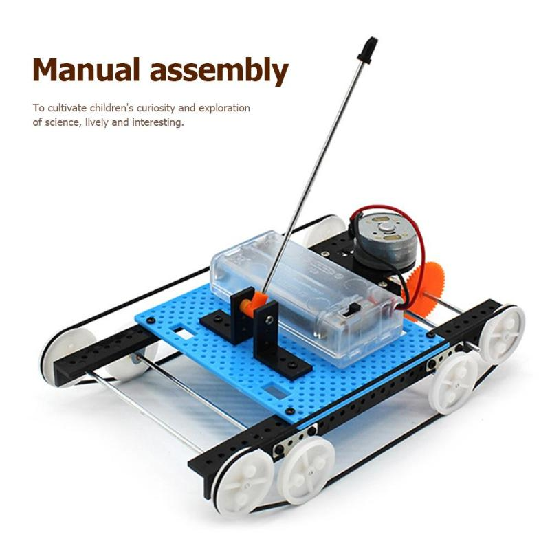 Electric Tank Toys Materials DIY Assemble Science Projects Teaching Equipment Technology Model Kit Vehicle Experiment