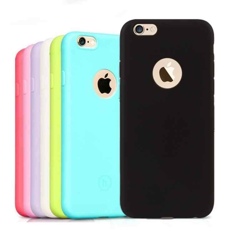 Silikon Case untuk iPhone 6S 6 7 8 PLUS 7Plus 7Plus SE 2020 iPhone 11 Pro 11Pro MAX X XS Max XR Gel Cell Phone Cover Casing Tritone