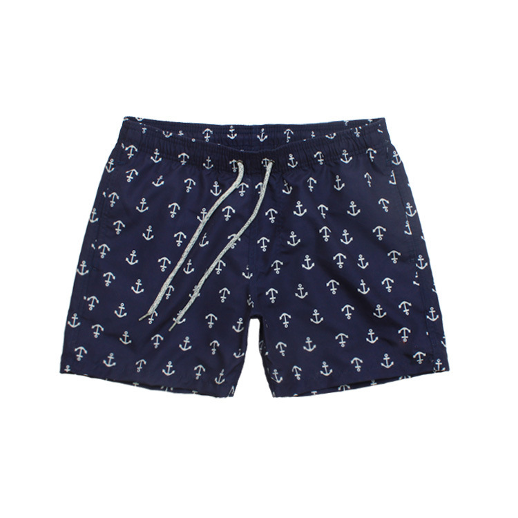 Foreign Trade Quick-Dry Beach Shorts Men's Digital Printed Webbing Lining Loose And Plus-sized Four Swimming Trunks Hot Springs