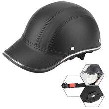 قبعة أمان صلبة للدراجات النارية ، لمقهى متسابق المروحية ، سكوتر ، قبعة بيسبول ، نمط نصف وجه ، عتيق ، صيف