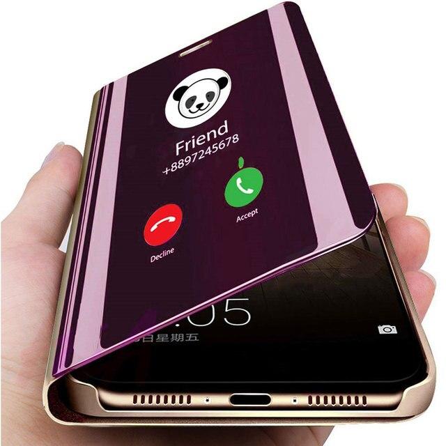 Inteligentne lustro etui na telefon do Xiaomi Redmi Note 9 9 s 8 7 K20 5 6 Pro 4 4X 8A 6 6A 7A Plus Mi 9 SE 9T 8 Lite A1 A2 A3 5X 6X pokrywa