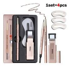 1PC Professional Augenbraue Make Up mit Refill Einfach zu Tragen Pigment Braun Grau Wasserdichte Augenbraue Bleistifte Kit Machen Up kosmetik