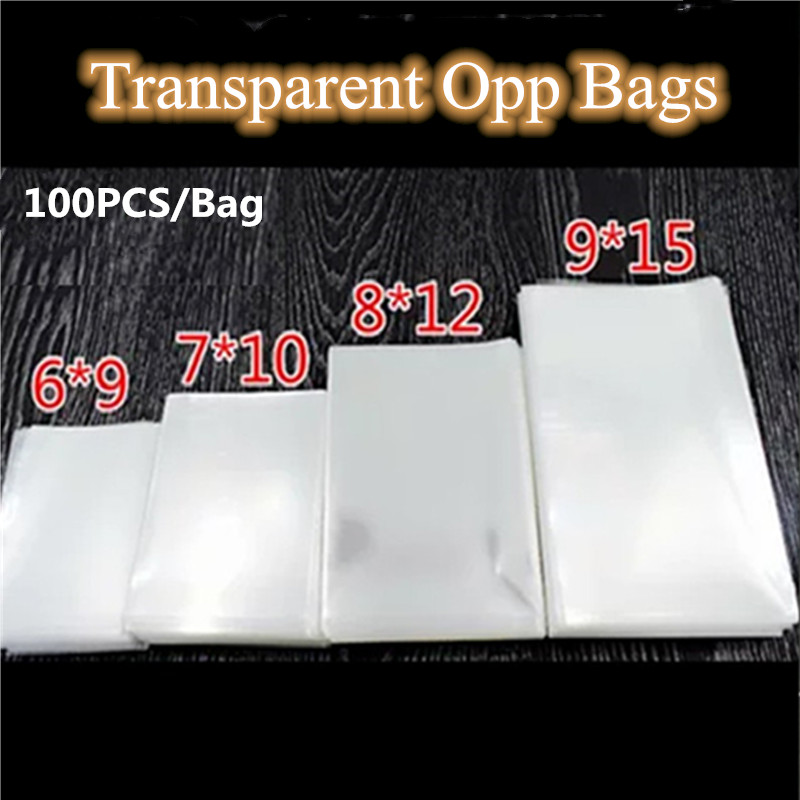 100pcs 10 Sizes Avail Transparent Opp Plastic Bags for Candy Lollipop Cookie Packaging Cellophane Bag Wedding Party Gifts Favors(China)