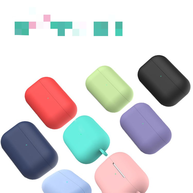 Customized <font><b>pop</b></font>-<font><b>up</b></font> silicone Apple Bluetooth headset case for <font><b>airpods</b></font> headset case wholesale PN035 image