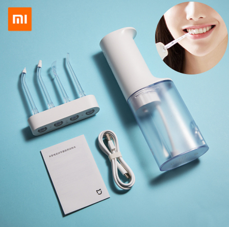 Xiaomi Mijia Electric Oral Irrigator Water Flow Voltage IPX7 Waterproof 200ml Water Toothpick Dental Flusher Care 4 Gear Level(China)