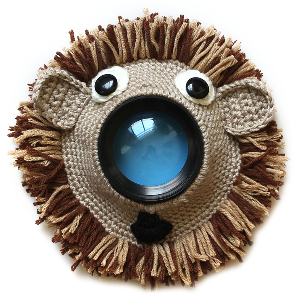 Teaser Toy Child Lens Accessory Camera Buddies Photography Props Pet Cute Animal Shutter Hugger Knitted Kid Handmade Posing
