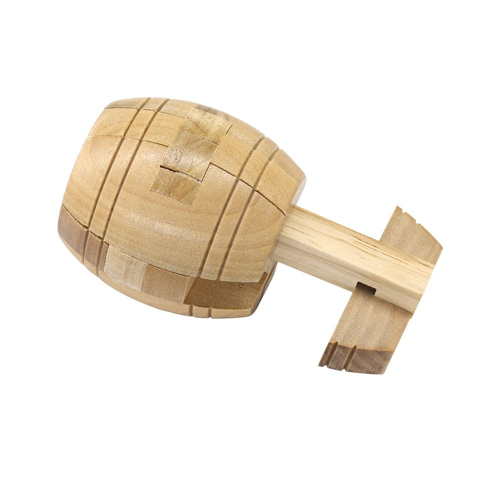Children's Puzzle Ball Lock Wooden Unlock Toy Wooden Intelligence Toy Chinese Brain Teaser Game IQ Puzzle For Kids Adults L0217