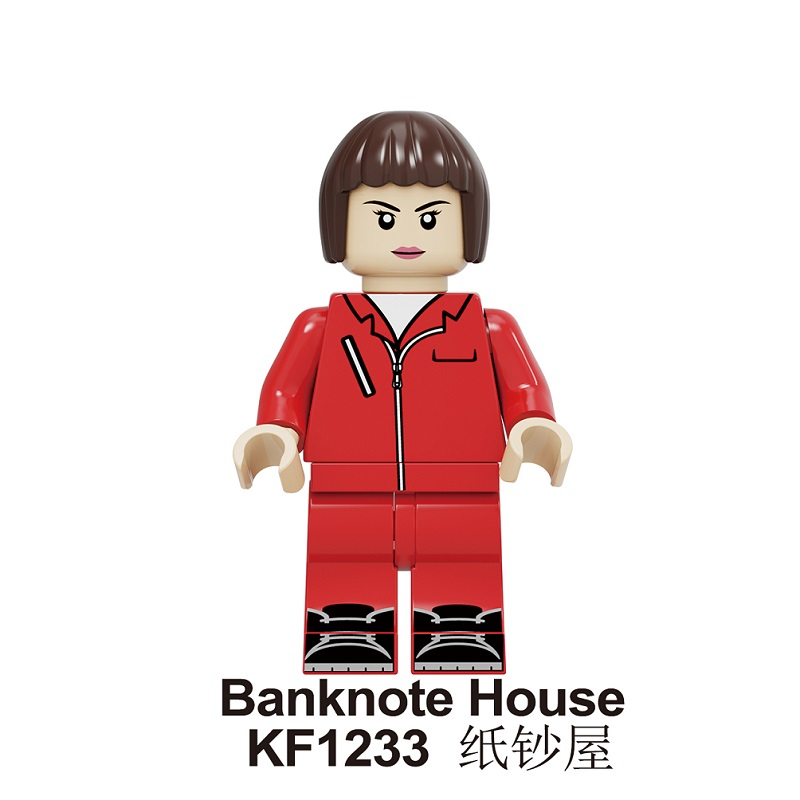 20Pcs Building Blocks Suspense Movie Banknote House Money Heist Retired Killer John Wick Figures For Children Model Toys KF1233 image