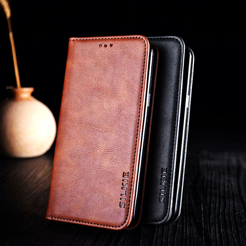 Case for xiaomi redmi note 4a 4x 5a 5 plus 6 6a 6 pro 7 k20 pro funda Luxury leather flip cover No Magnets coque capa
