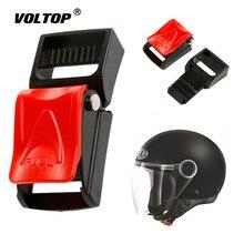 Moto Caschi Neri Clip di Velocità Pad Cintura di sicurezza Cintura di Sicurezza Della Copertura Fibbia Sottogola Fibbia A Sgancio Rapido
