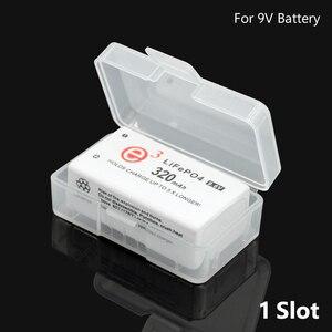 Image 5 - שקוף פלסטיק סוללה אחסון תיבת עבור 1Pc 2pcs 9V 6F22 סוללות סוללה מיכל מחזיק סוללה מקרה עבור סיטונאי