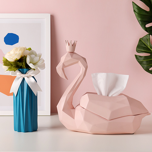 Flamingo & Blue Vase