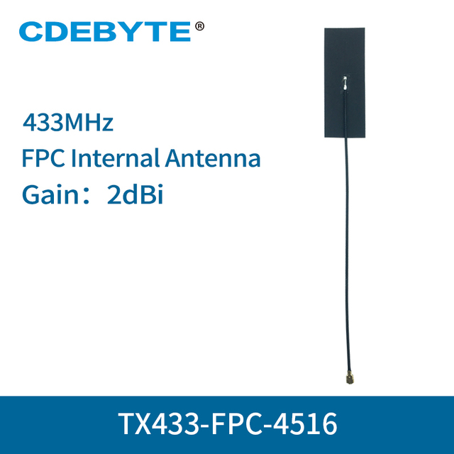 10 pc/lot antenne interne FPC 433MHz IPEX Interface 2dbi antenne wifi omnidirectionnelle