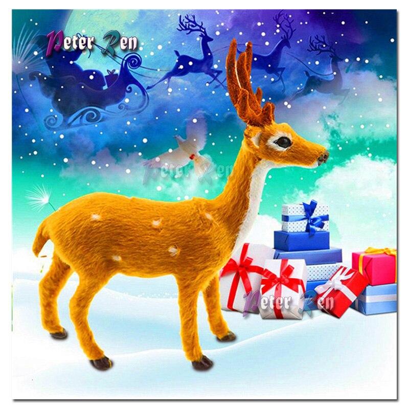 Full Drill Cartoon Deer 5D Diamond Painting Cross Stitch Embroidery Xmas Decor