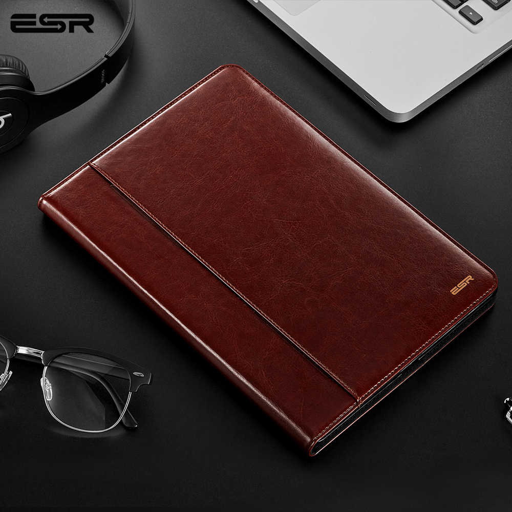 ESR Premium PU Leather Case for iPad Pro 10.5 Air 3 2019 Business Folio Stand Pocket Auto Wake Smart Cover for 10.5 inch Air3|smart cover|smart case|folio case - title=
