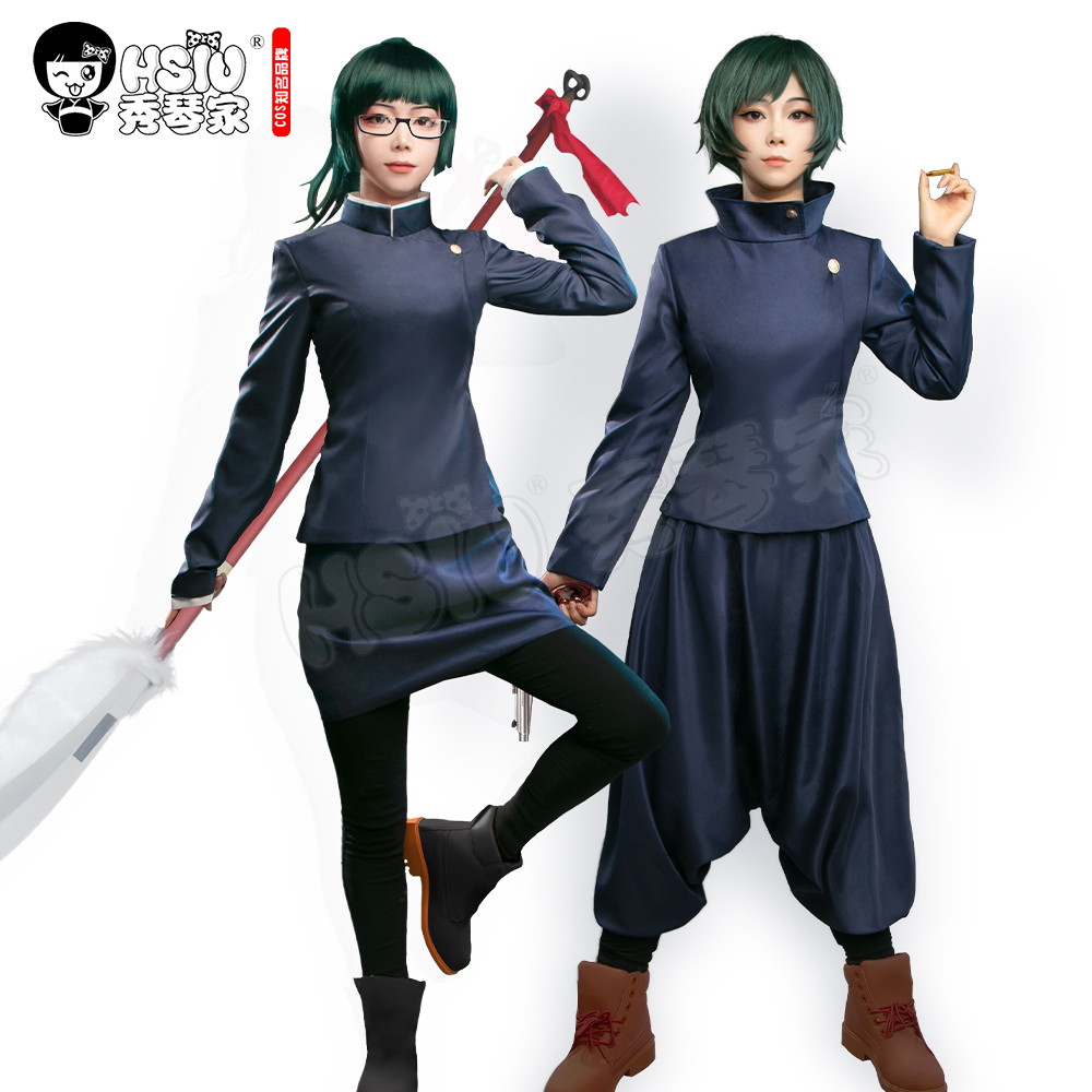 Zenin Mai kleidung Maki Zenin kleidung Anime Jujutsu Kaisen Cosplay HSIU dunkelblau schlank uniform