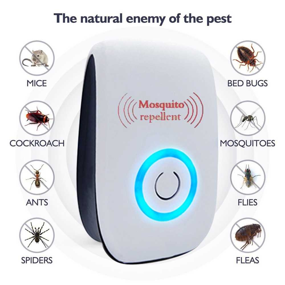 Electronic Upgraded Ultrasound Control Mosquito Repellent Anti Insect Bed Bug Mites Spider Roaches Defender Killer Aliexpress