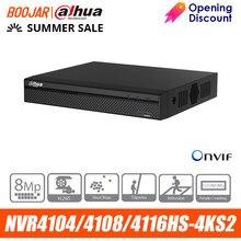Dahua-Grabadora de vídeo 4k, NVR4104HS-4KS2 NVR4108HS-4KS2, 4/8/16 canales, compacta, 1U, 4K y H.265