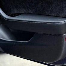 Автомобильная Противоударная накладка наклейка для Тесла модель