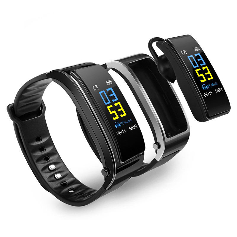 smart watch Y3 watch earphone 2 in 1 Bluetooth 4.1 Phone calls reminding Sleep Monitor Pedometer Smart Wake-up For IOS Android