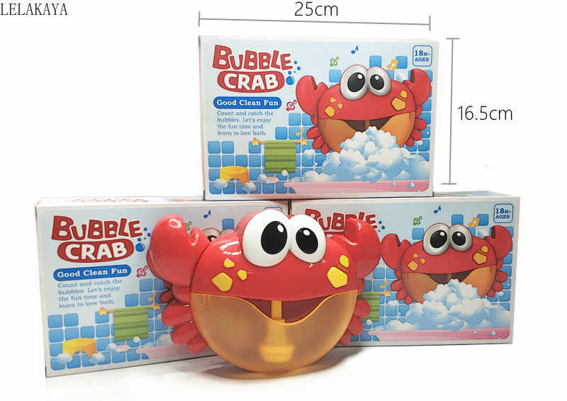 Bubble Crabs Music Baby Bath Toys Kids Pool Swimming Bathtub Soap