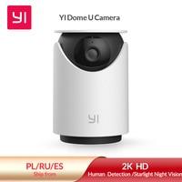 yi Dome U 2K cámara IP wifi de vigilancia para interiores, cámara de seguridad pan-tilt enchufable, reconocimiento de personas, con asistente de voz, sensor de movimiento, HomeBase No es necesario