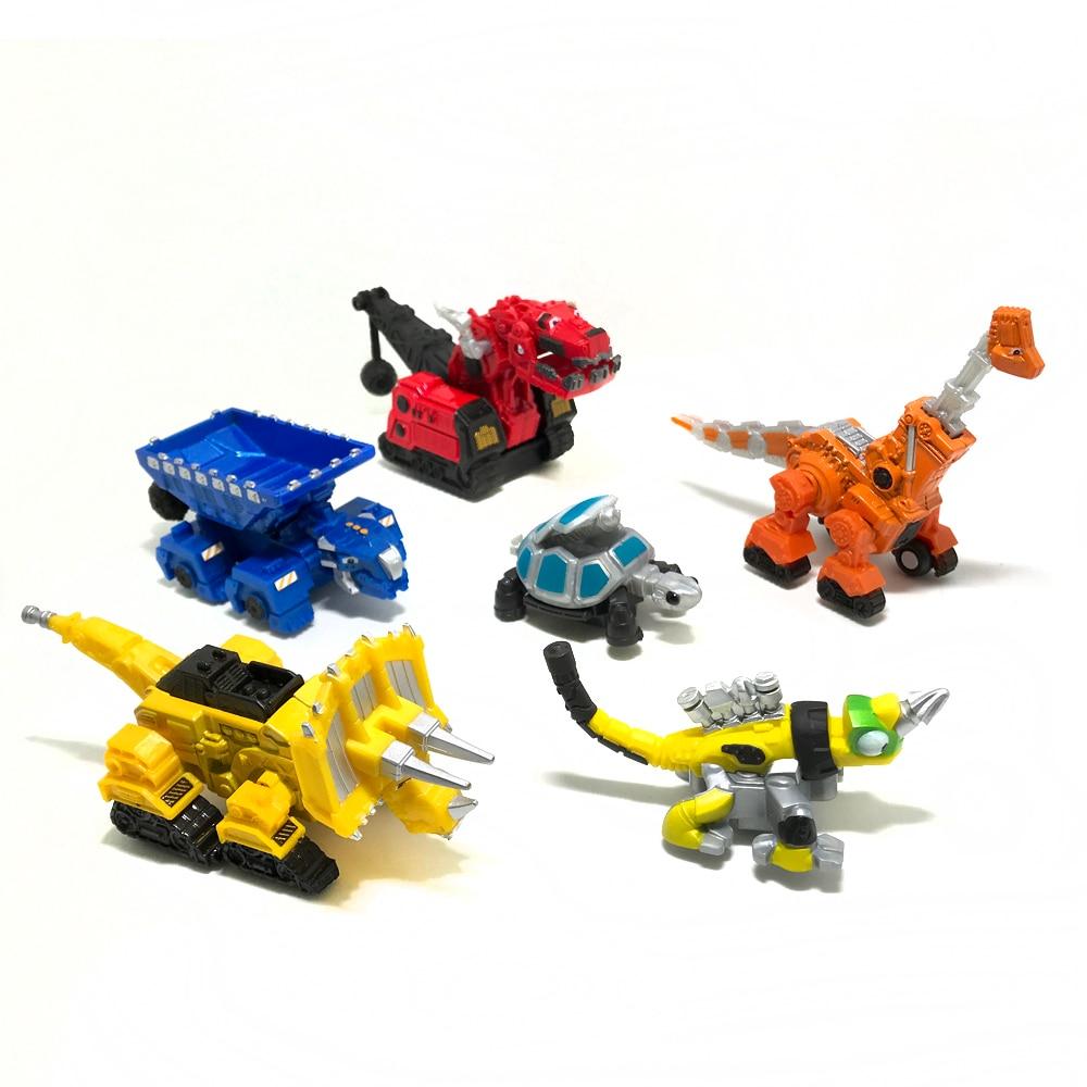 6pcs/set Dinotrux Dinosaur Truck Removable Dinosaur Toy Car Mini Models New Children's Gifts Toys Dinosaur Models Mini Child Toy