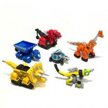Para dinotrux dinossauro caminhão removível dinossauro carro de brinquedo mini modelos novas crianças presentes brinquedos modelos dinossauro mini criança brinquedos
