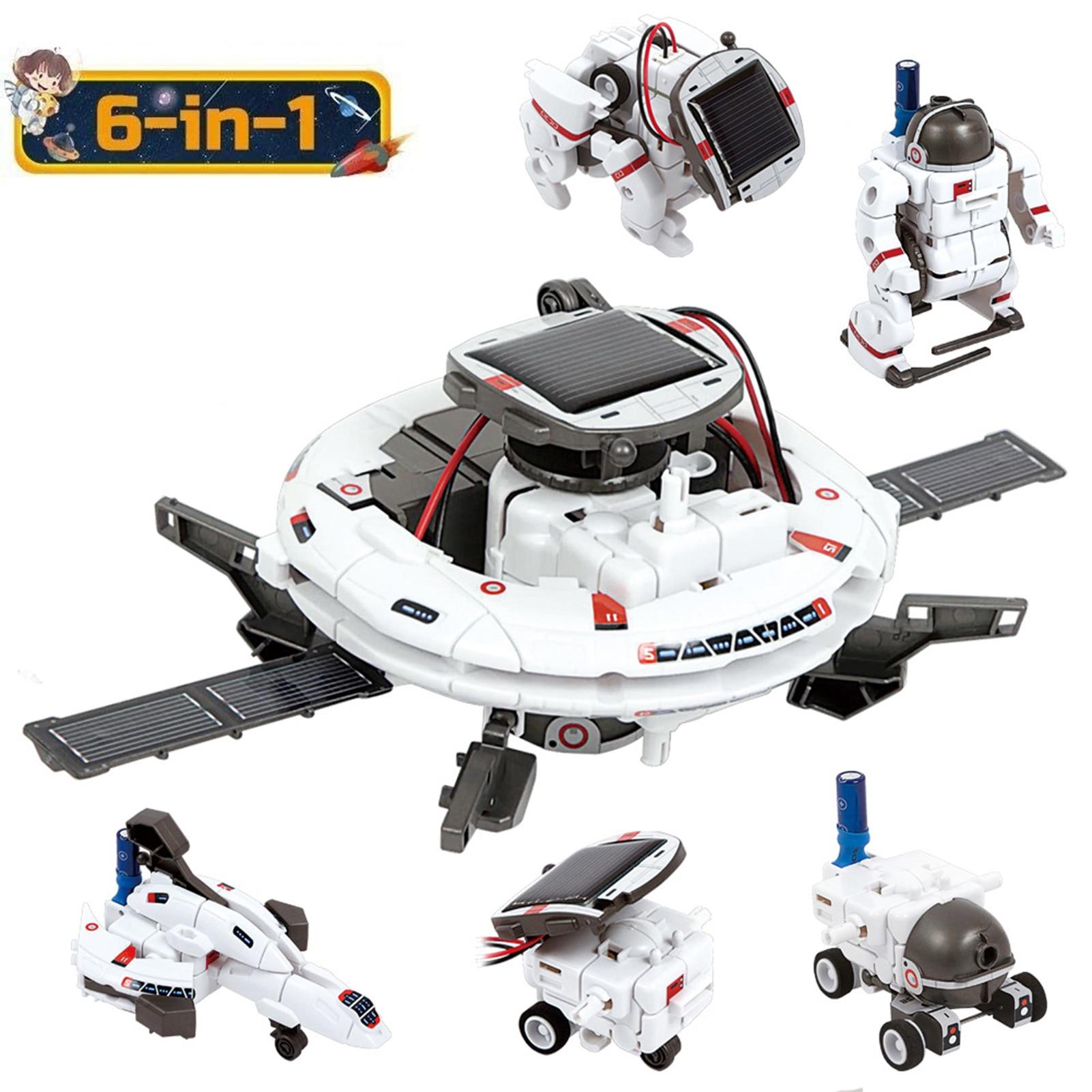 Madre juguetes 6-en-1 espacio equipo de Robot Solar energía juguete ciencia innovadora Kit de enseñanza científica ayuda regalo de los niños