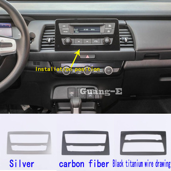 Car Garnish Navigation Map GPS Trim Dashboard Meter Instrument Panel Gauge Frame Stick For Honda Fit Jazz 2020 2021 image