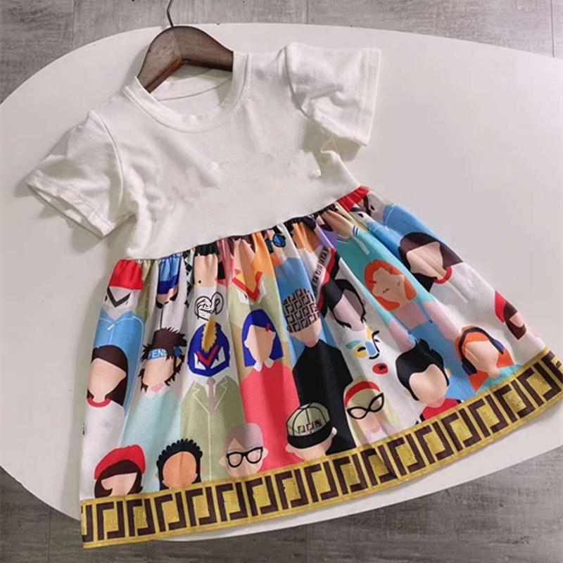 Baby Dress Kids Summer Dress Cartoon Print Dress