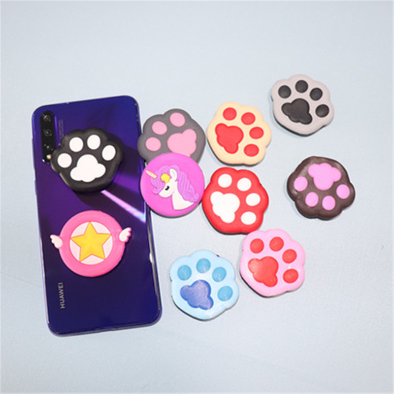 Hot Mobile Phone Holder Extension Bracket Mobile Phone Holder For IPhone Bracket Table For Millet - Pony Dog Paw Cartoon Pattern