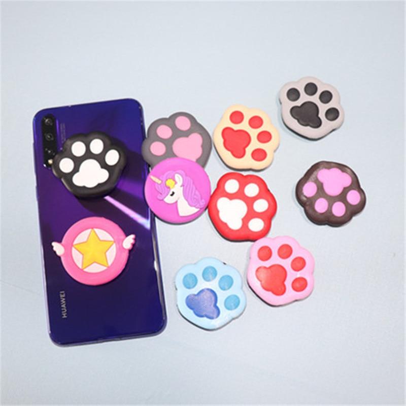 Hot Mobile Phone Holder Extension Bracket Mobile Phone Holder For IPhone Bracket Table For Millet - Pony Dog Paw Cartoon Pattern