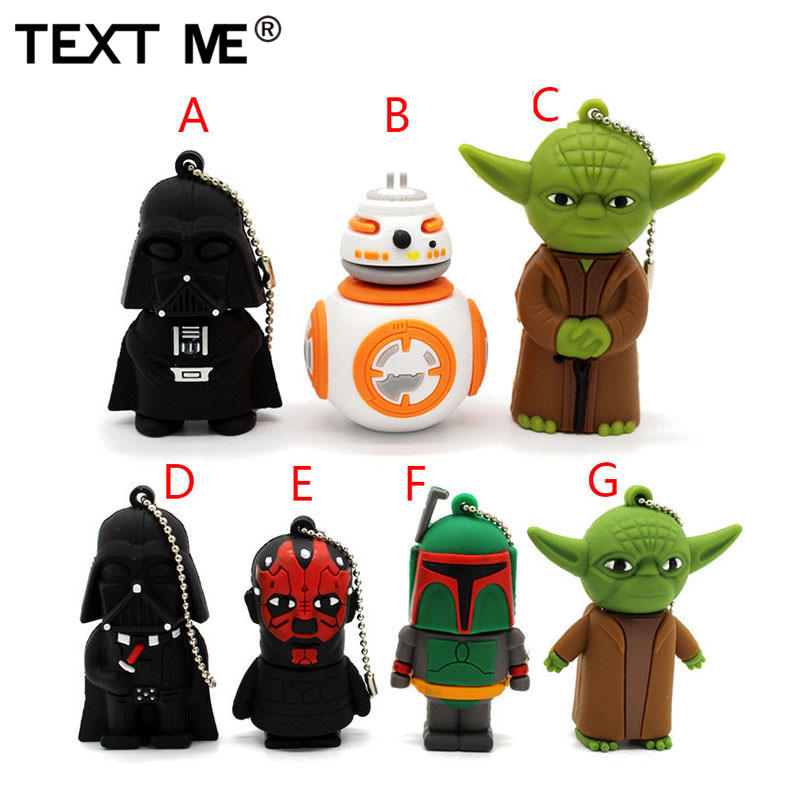 TEXT ME USB Stick Star Wars Usb 2.0 USB Flash Drive Pen Drive 4GB 8GB 16GB 32GB Memory Stick