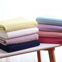 Wide 61inch Cotton Clip Twist Material Knitted Fabric Quilting Thick Autumn Winter Air layer Clothing Fabric By the Half Yard