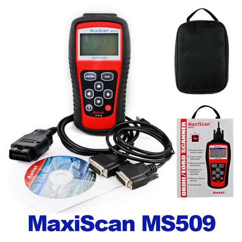Автомобильный считыватель кода Autel MaxiScan MS509 автоматический считыватель кодов автомобильный OBDII EOBD сканер автомобильный диагностический ин...