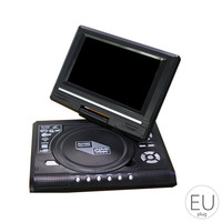 Portable DVD Player 270 Degree Rotation Screen HD Video Player Travel Mini DVD Playing Device US/UK/EU/AU Plug