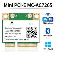 Banda dupla 1200mbps sem fio cartão MC-AC7265 bluetooth 4.2 notebook wlan wifi adaptador de cartão 802.11ac 2.4g/5ghz melhor 7260hmw pcie