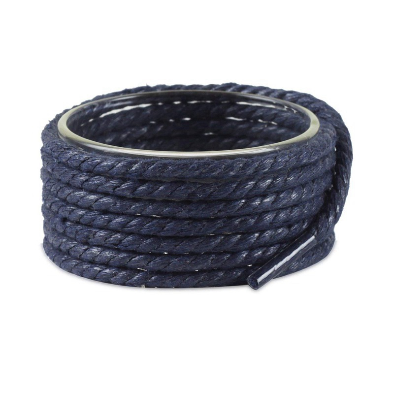 1 Pair Round Shoe Laces Leather Waxed Shoelaces Outdoor Leisure Martin Boots Shoelace Adult Unisex Shoe Lace 60/90/120/150CM