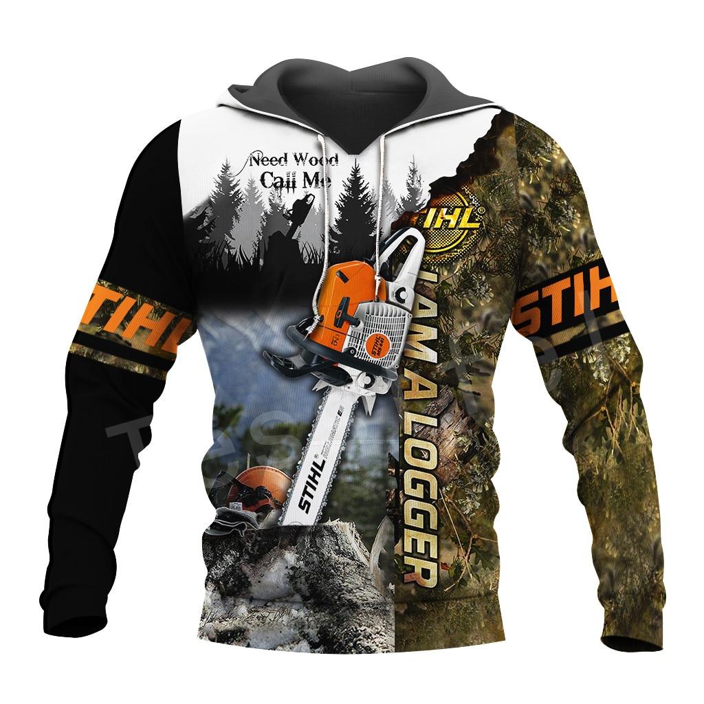 Tessffel Worker Instrument Tool Chainsaw Harajuku Tracksuit NewFashion 3DPrint Zipper/Hoodies/Sweatshirt/Jacket/Men/Women S-8