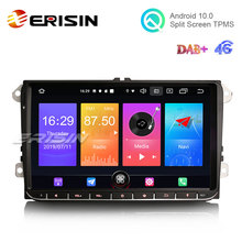 """Erisin ES2728V 9 """"DAB + אנדרואיד 10.0 רכב סטריאו רדיו SatNav עבור פולקסווגן פאסאט גולף 5 T5 טוראן פולו מושב סקודה"""