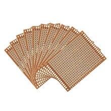 20 Pçs/lote Universal 50x70 milímetros 2.54 milímetros Espaçamento dos Furos da Placa do PWB Protótipo de Papel Impresso Painel Circuito 5x7 cm Placa de Face Única