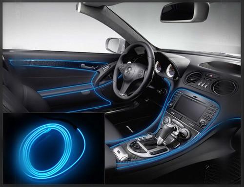 Car Interior Lighting Strips Auto LED Strip Garland EL Wire Rope Car Decoration Neon LED Lamp Usb Light Cigarette Lighter Light