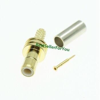 Conector macho SMB Conector recto engarzado de soldadura para cable LMR100 RG316 RG174