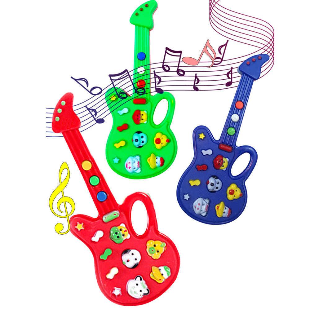 2019 super ventes jouets pour enfants belle musique développement guitare électronique rime jouets pour enfants cadeau intéressant