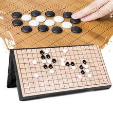 Китайский Старый Настольная игра Checker складной стол Магнитный Go шахматы набор портативный подарок S7JN